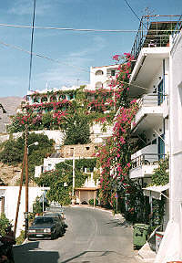 The only road into Agia Gallini